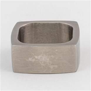 A Brushed Metal Ring
