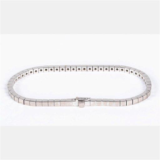 b5808638a5c40 A Cartier 18kt. White Gold Square Link Bracelet,
