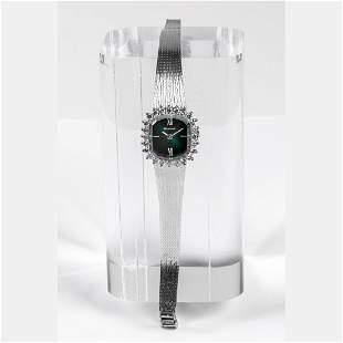 A Bulova 14kt White Gold and Diamond Wrist Watch 20th