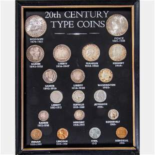 A Complete Set of 20th Century Type Coins 18811964