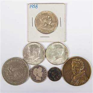 A Miscellaneous Collection of US Coins and Medallions