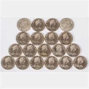 A Group of Seventeen 1972 Isle of Man Silver Wedding