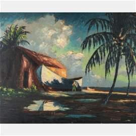 Harold Newton (American, 1934-1994) Beach Scene