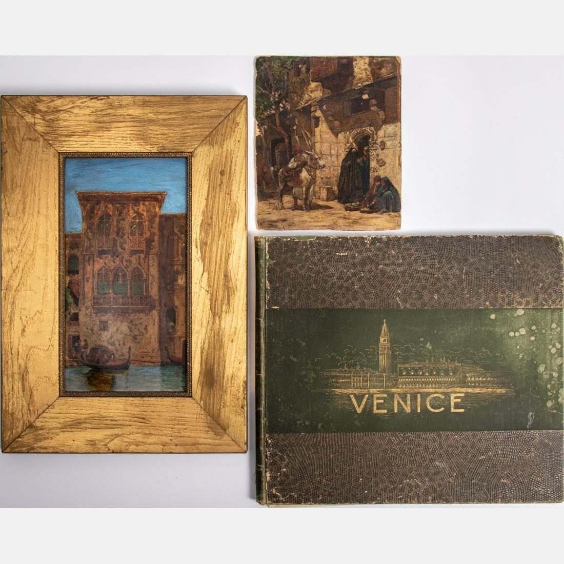 Artist Unknown (20th Century) Venice Scene, Oil on
