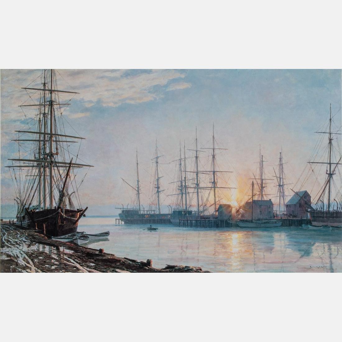 John Stobart (American, b. 1929) Sunrise over Nantucket