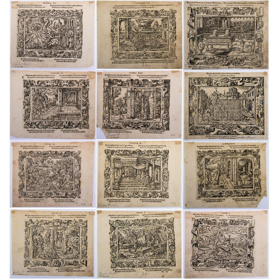 Virgil Solis (German, 1514-1562) Six Double-sided Book