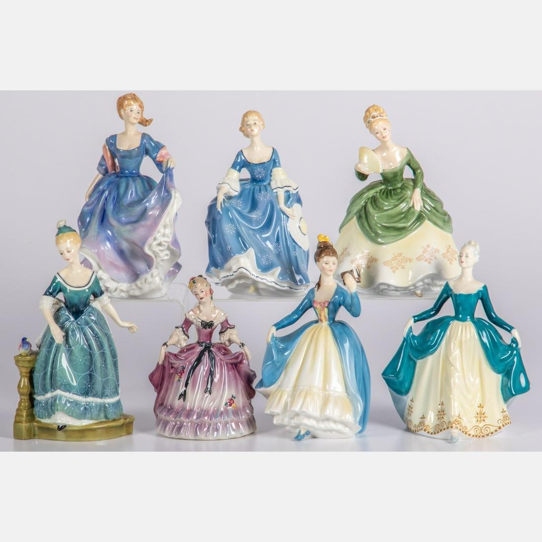 A Group of Seven Royal Doulton Porcelain Figures, 20th