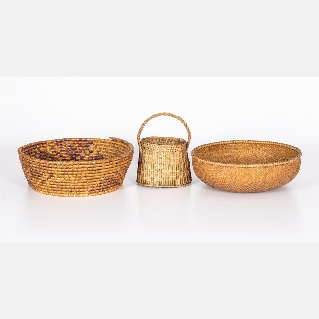 A Group of Three Antique Baskets, 19th/20th Century.