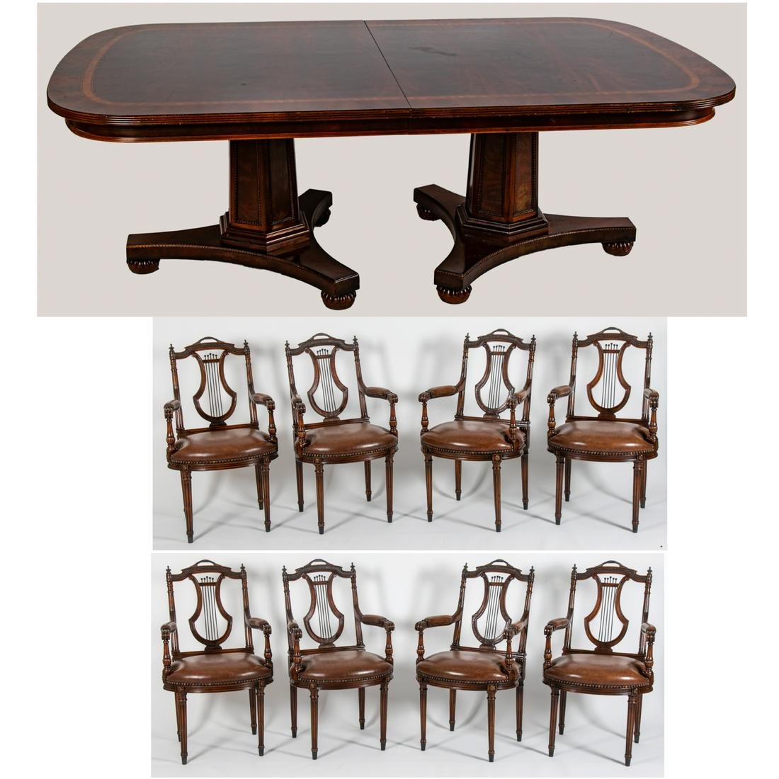 A Henredon Natchez Collection Dining Table, 20th