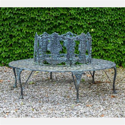 Fabulous A Cast Iron Garden Wrap Around Bench 20Th Century Machost Co Dining Chair Design Ideas Machostcouk