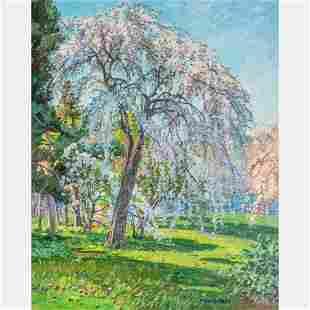 T.M. Nicholas (American, b. 1963) Blossoming Cherry,
