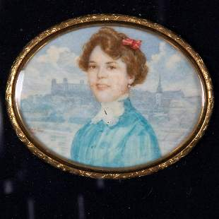 Artist Unknown 19th20th Century Portrait of a Lady