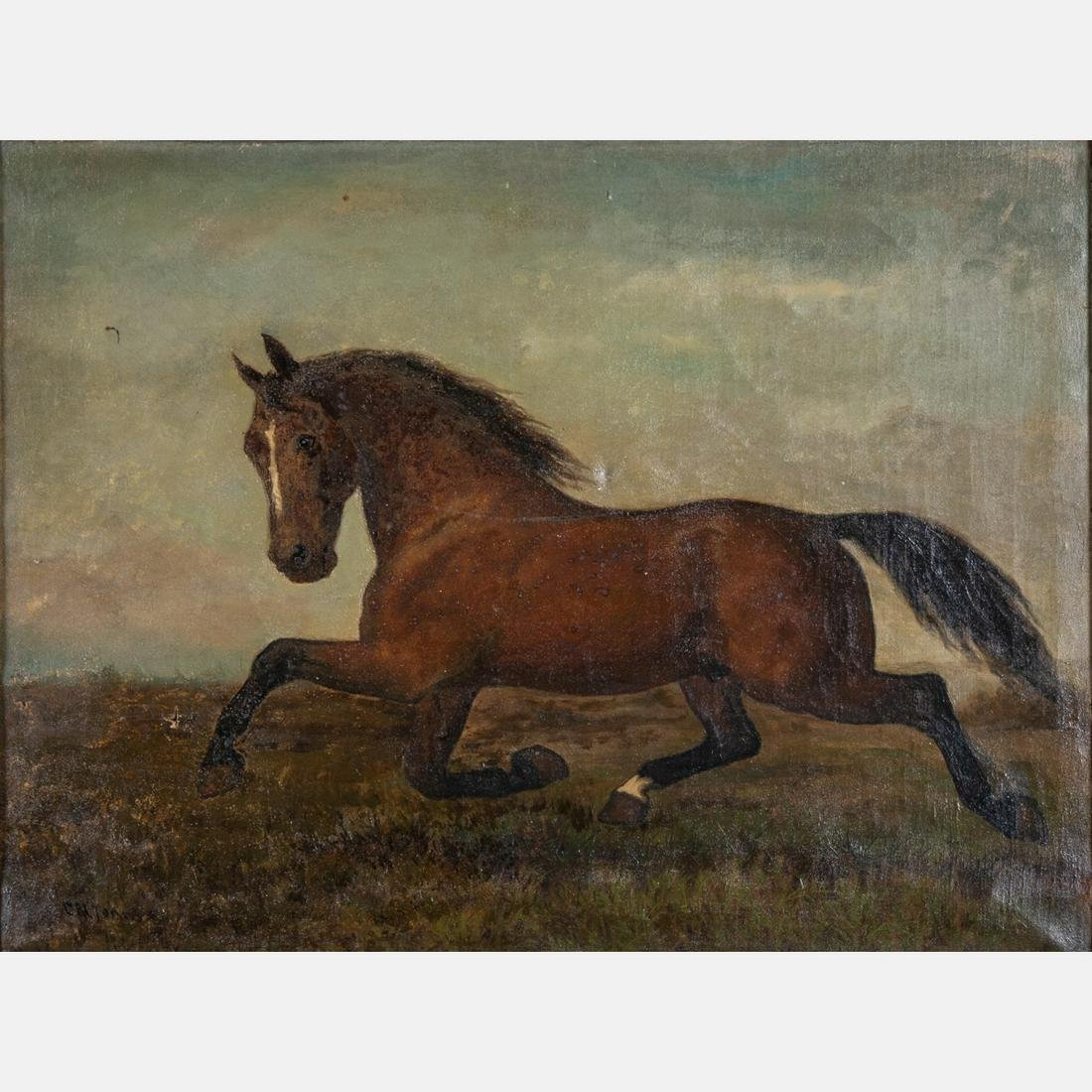 Clarence M. Johns  (American, 1843-1925) Galloping
