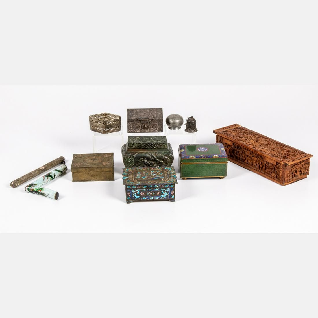 A Miscellaneous Collection of Chinese Carved Hardwood,