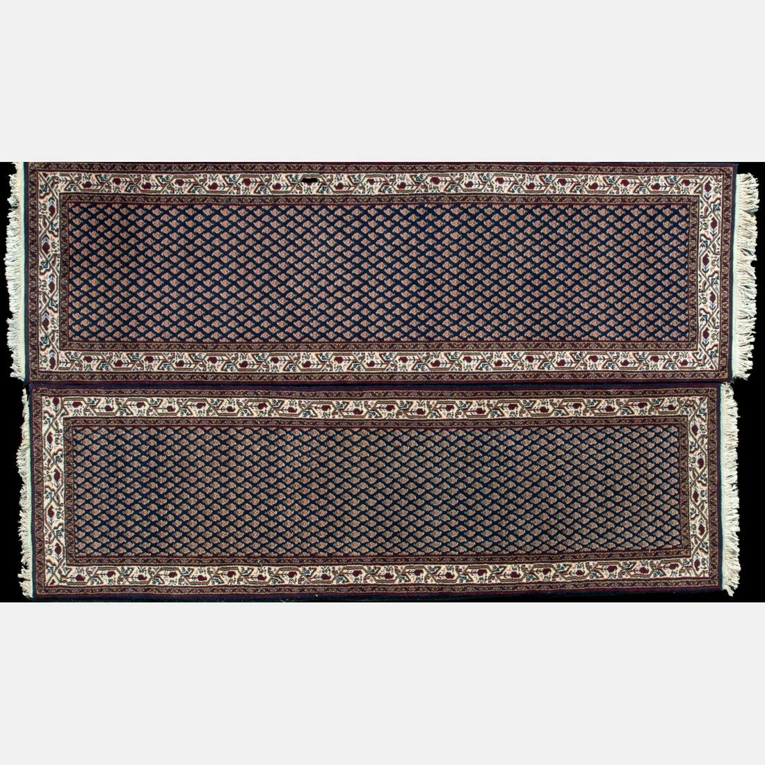 A Pair of Persian Wool Runners, 20th Century,