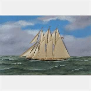 Thomas H. Willis (American, 1850-1925) American Ship at