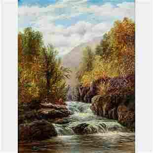 William Mellor (English, 1851-1931) River Landscape