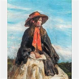 Artist Unknown 19th20th Century Portrait of a Female