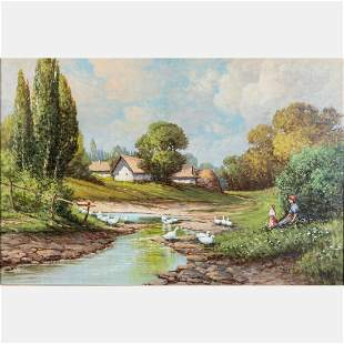 T Fulop Gyula Hungarian 19th20th Century Landscape