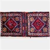 A SemiAntique Persian Varamine Wool Saddle Bag Early