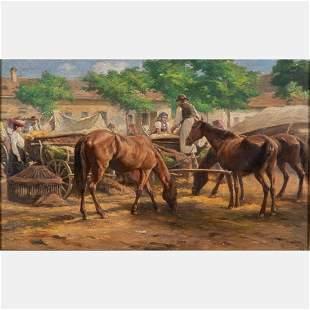 Ferenc Rosenmayer Hungarian 18641912 Market Scene