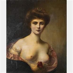 Henri Rondel (French, 1857-1919) Portrait of a Woman as