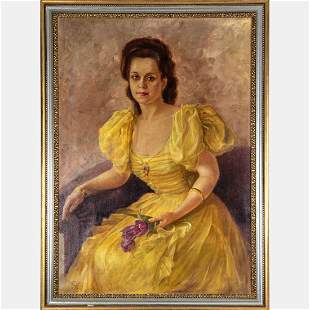 Hungarian School (20th Century) Portrait of a Lady, Oil