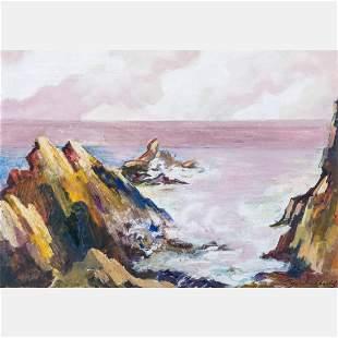 Samuel Bookatz (American, 1910-2009) Rocky Coastal