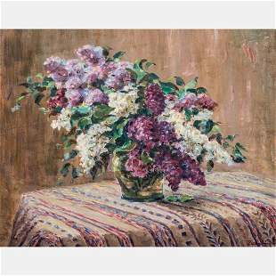 Hungarian School (20th Century) Floral Still Life, Oil