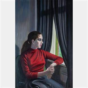 B. Edmonds (20th Century) Seated Woman Gazing out the