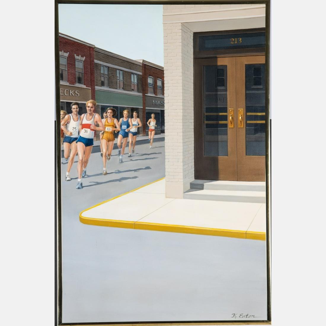 Kathleen Eaton (American, 20th Century) Runners