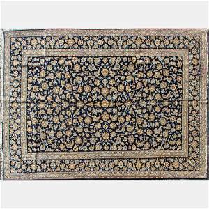 A Persian Kashan Wool Rug, ca. 1970s.