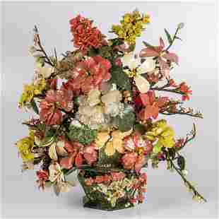 A Chinese Carved Flowering Tree Bouquet
