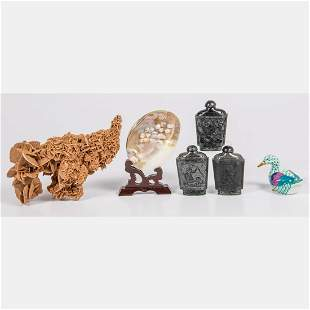 Porcelain Mineral and Shell Decorative Items