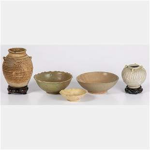 Asian Celadon and Stoneware Vessels