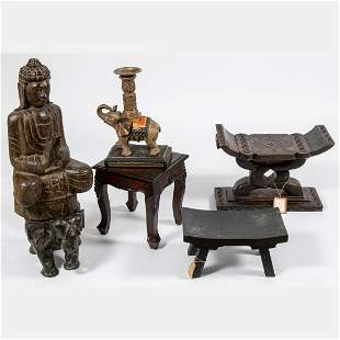 Collection of Asian Themed Decorative Items