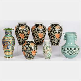 A Collection of Seven Chinese Porcelain Vases