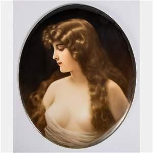 A KPM Porcelain Plaque by Wagner,