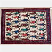 A SemiAntique Persian Afshar Wool Rug