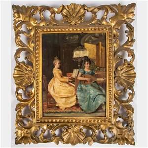 Artist Unknown (Italian,19th Century) Interior Scene