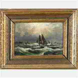 Karl Lorenze Rettich 19th Century Seascape with