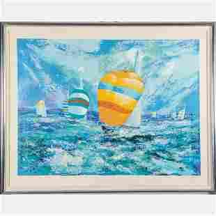 Mark King 19312014 Sailboats Silkscreen