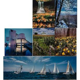 A Miscellaneous Collection of Framed Photographs 20th