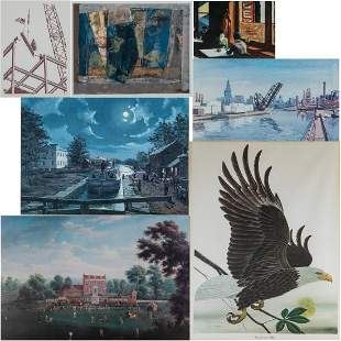 A Miscellaneous Collection of Seven Framed Decorative