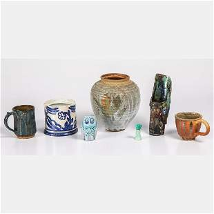 A Group of Seven Contemporary Ceramic Serving and