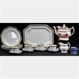 A Miscellaneous Collection of Porcelain Lustreware