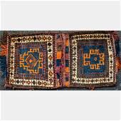 An Antique Persian Kurdish Saddle Bag, Early 20th