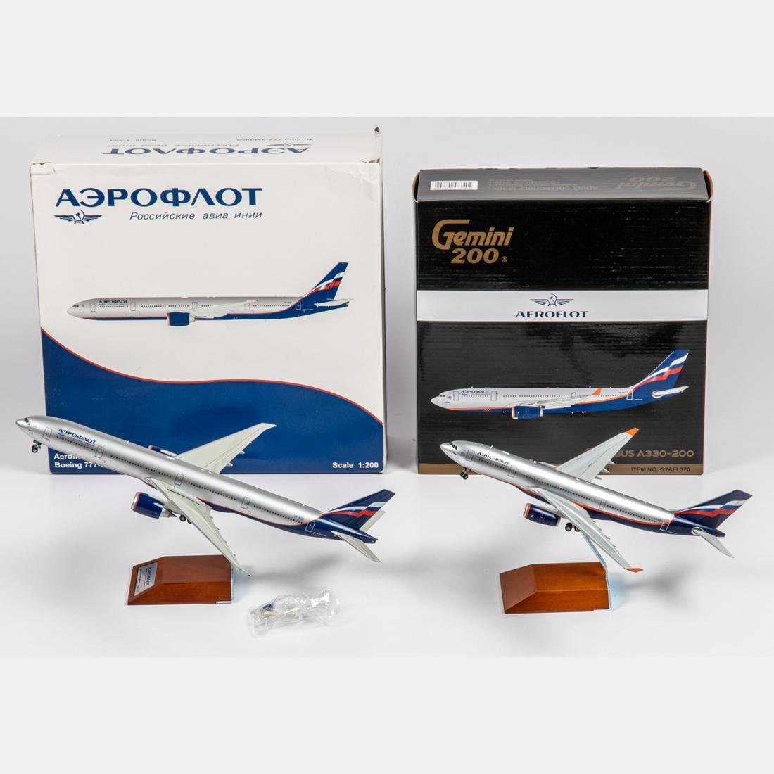 Two Aeroflot Diecast Airplanes