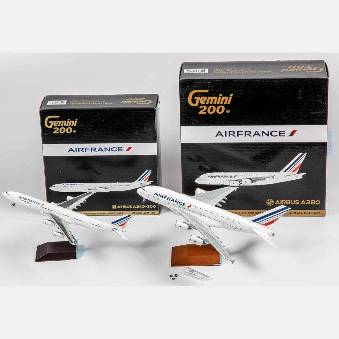 Two Air France Diecast Airplanes