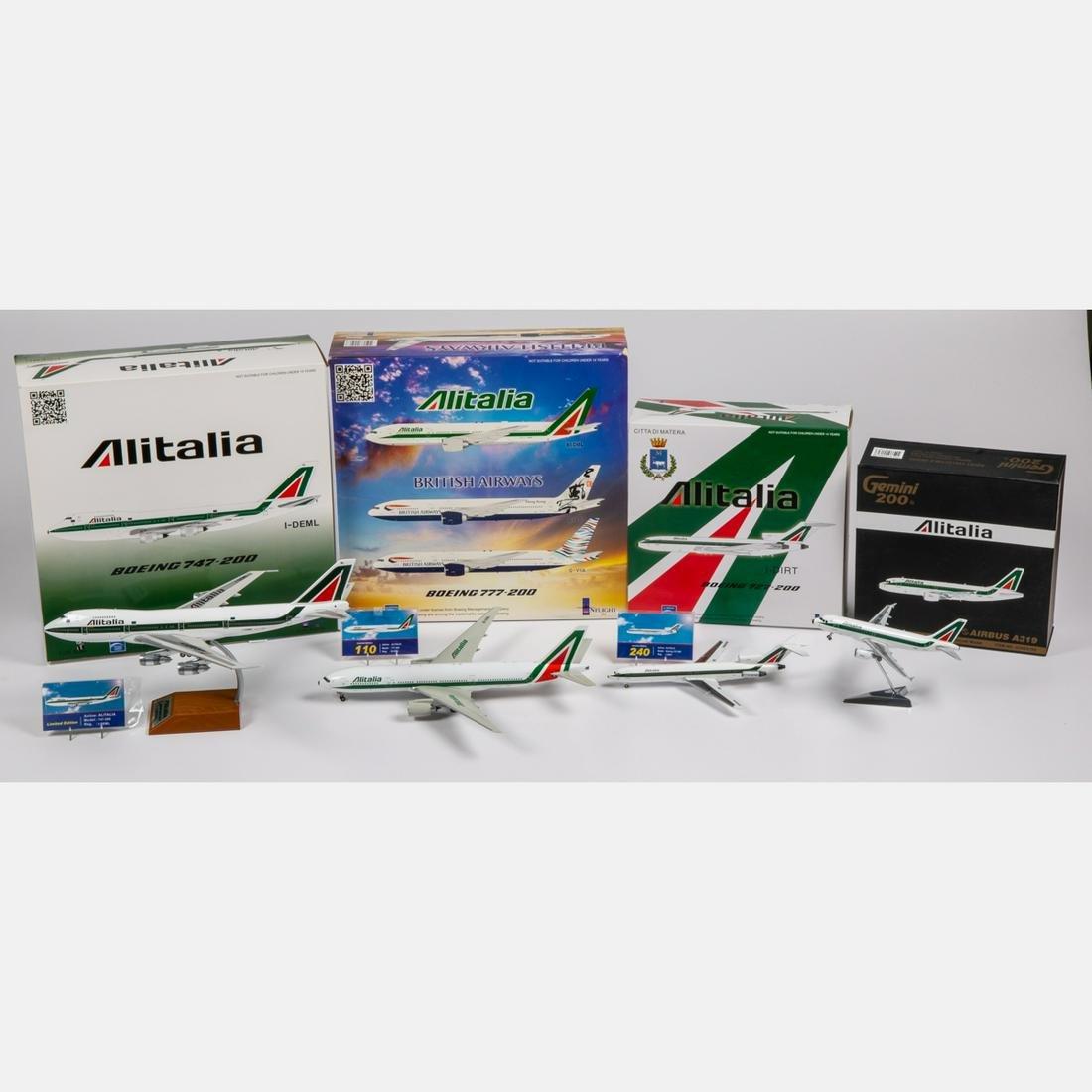 Four Alitalia Diecast Airplanes